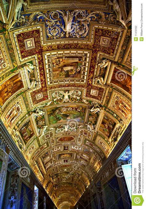 map room vatican museum map room inside ceiling rome italy editorial photography image of religion