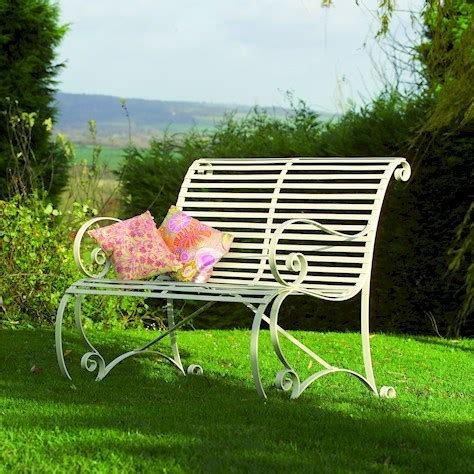 cream garden bench cream rollback metal garden bench homegenies