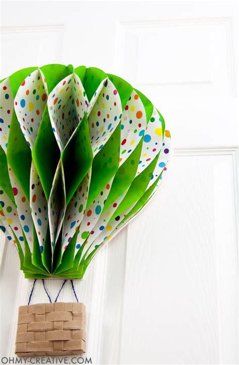 Handmade Air Balloon Decorations - diy air balloon decor oh my creative