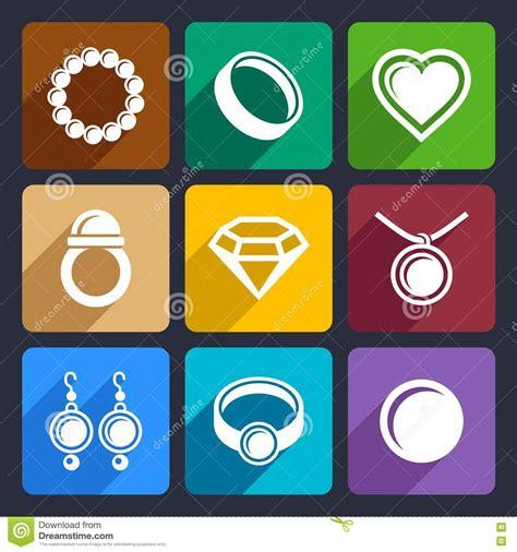 icon design jewelry jewelry flat icons set 33 royalty free stock image image