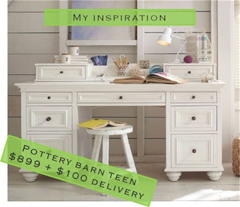Pottery Barn Desk Craigslist by Remodelaholic Pottery Barn Inspired Desk Makeover
