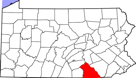 Pa Search York County File Map Of Pennsylvania Highlighting York County Svg