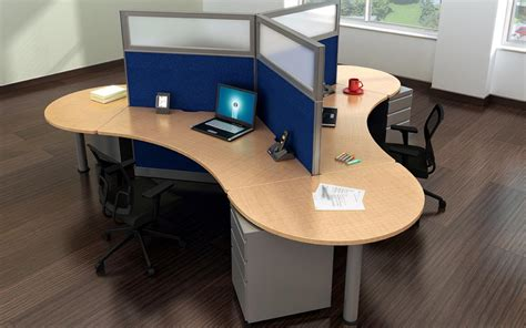 3 Person Compact Desk Workstation   Madison Liquidators