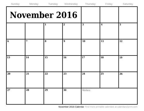 Calendar 2017 Nov Dec November 2016 Printable Calendar