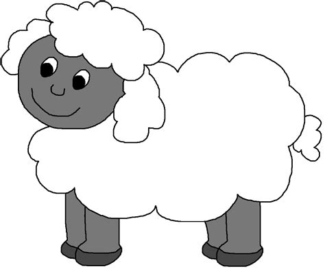 Clip Art Sheep Mask Clipart - Clipart Suggest Lamb Black And White Clipart