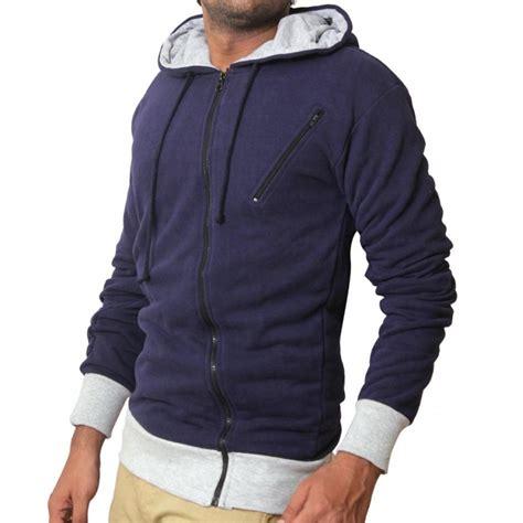 Jacket Hoodie Zipper Navy warp zipper navy blue pullover hoodie
