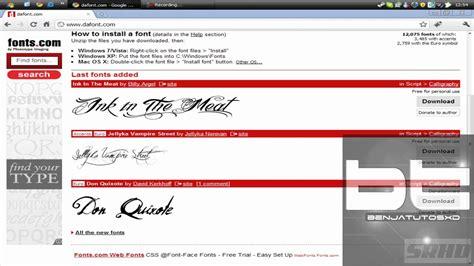 dafont letras como descargar fuentes por dafont com youtube