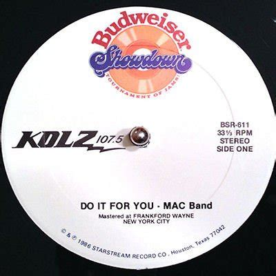 Mac Do You by Mac Band Do It For You Funkbuster