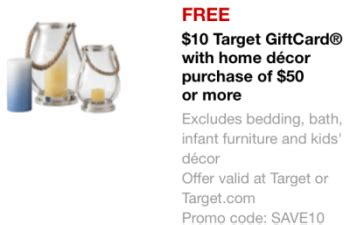 target bedding coupon new target mobile coupon 10 gift card with 50 home decor