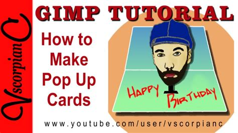 pop out cards how to make gimp tutorial how to make 3d pop out cards by vscorpianc