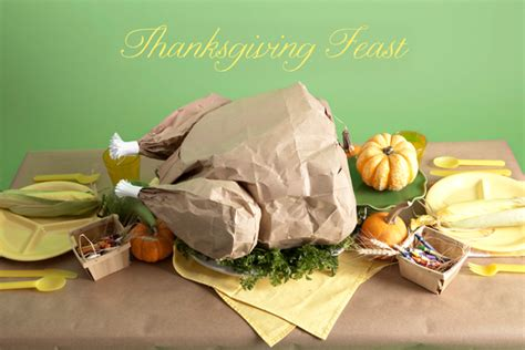 How To Make A Paper Turkey - thanksgiving feast popcorn filled paper bag turkey