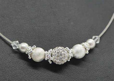 Perlenkette Hochzeit by Funkelnder Brautschmuck Mit Sterling Silber Perlen