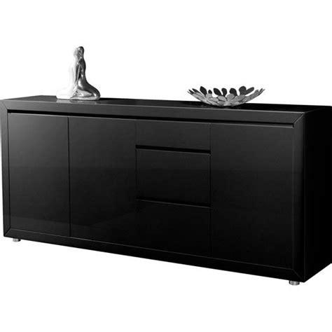Black Contemporary Sideboard fino contemporary gloss black 3 door sideboard with 3