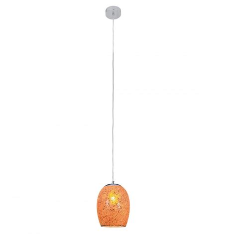 Orange Pendant Lights Crackle Orange Ceiling Pendant Mosaic Glass Lighting And Lights Uk