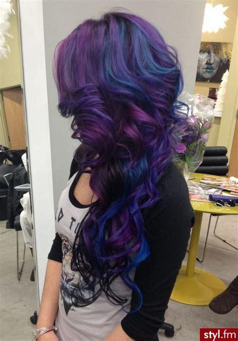 ideas  blue purple hair  pinterest