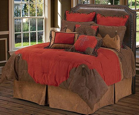 Red Rodeo Comforter Western Bedding Ensemble Western Bedding