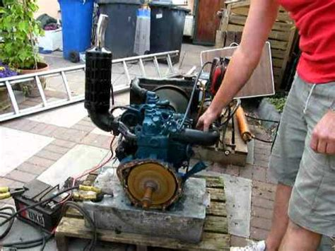Pompa Air Engine Mini kubota 2 cylinder engine diesel start stop