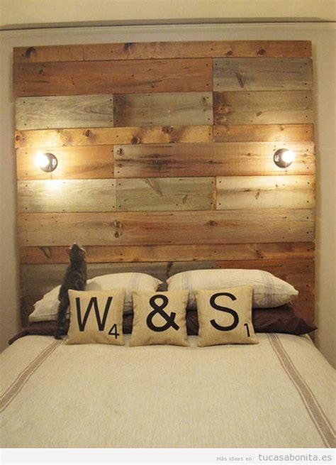 Ideas Para Cabezales De Cama #7: Ideas-decorar-cabecero-cabezal-cama-madera-original-4.jpg
