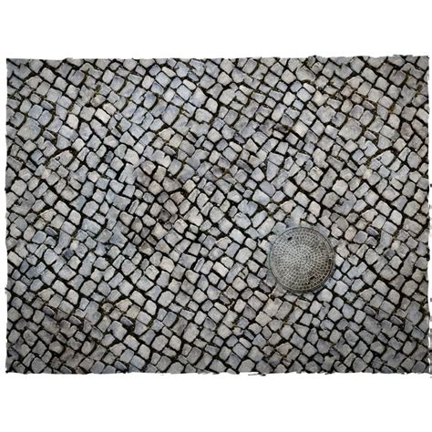 4ft x 4ft cobblestone theme cloth games mat wayland games