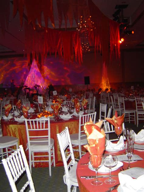 themed prom decorations centerpieces and awards decor