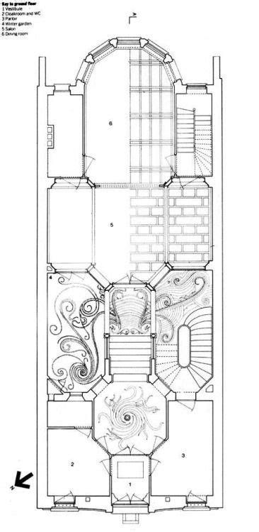 hotel tassel victor horta   disegno