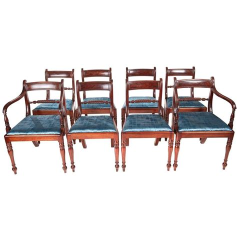 Set Of Eight Mahogany Dining Chairs For Sale At 1stdibs 8 Dining Chairs For Sale