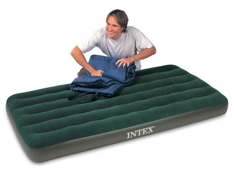 twin inflatable bed intex twin prestige air bed outdoor cing downy