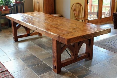 douglas fir dining table this rustic scraped douglas fir dining table has a