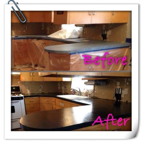 Rustoleum Countertop Before And After lumber countertop transformation