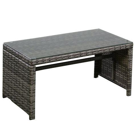 grey resin wicker rattan  piece patio furniture set