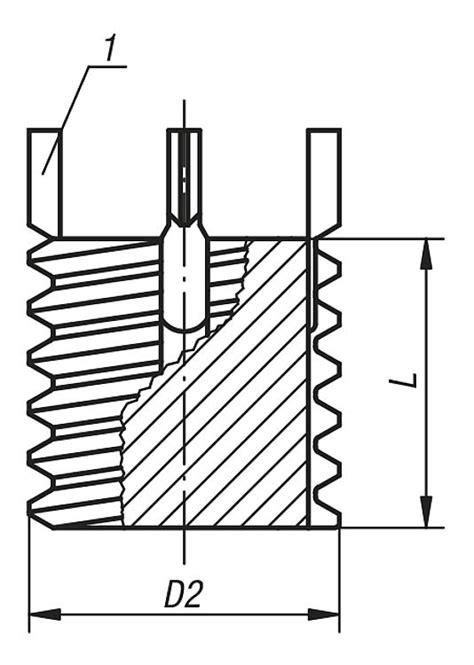 Taps Yamawa 14x15 norelem threaded inserts solid