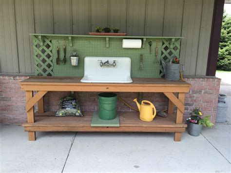 potting bench with sink plans plans for potting bench with sink woodworking projects