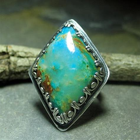 Cottage Jewelry by Lavender Cottage Jewelry Pisco Blue Gem Chrysocolla Ring