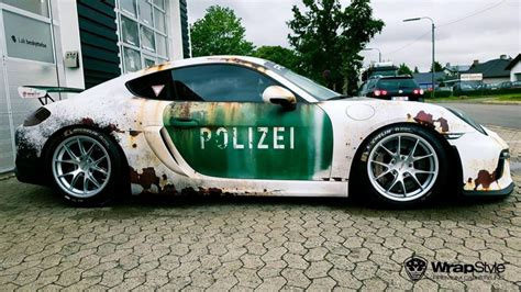 Auto Folierung Polizei by Ratlook Polizei Folierung Tuning Porsche Cayman Gt4 981