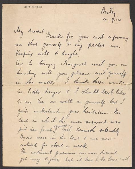 up letter with britain regimental sergeant major arthur harrington soldiers