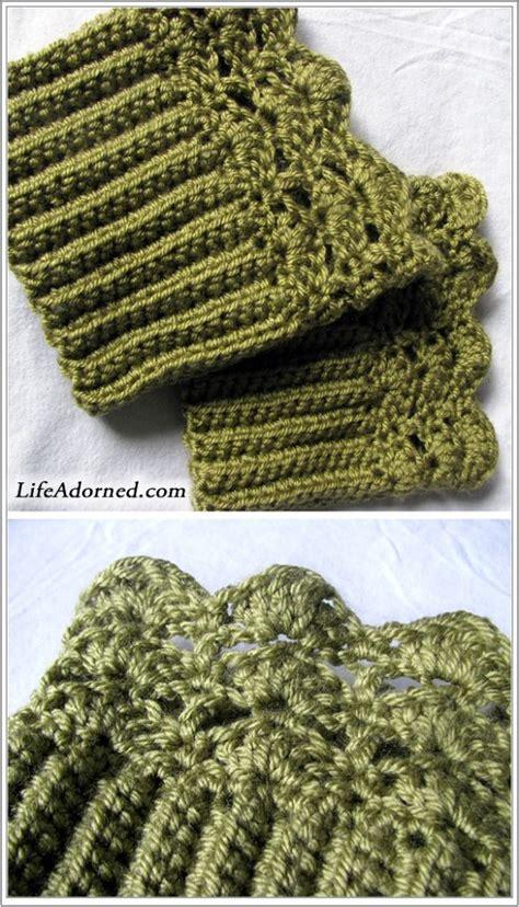free button boats pattern boot cuffs on pinterest crochet boot cuffs hat patterns