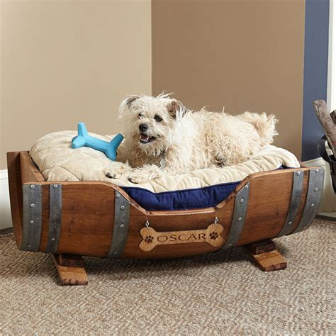 monogrammed dog bed wine barrel personalized dog bed pet beds