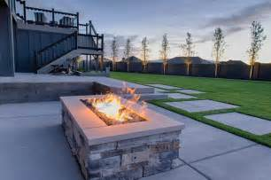 Backyard Patio Designs With Fire Pit Gas Fire Pits Contemporary Landscape Salt Lake City