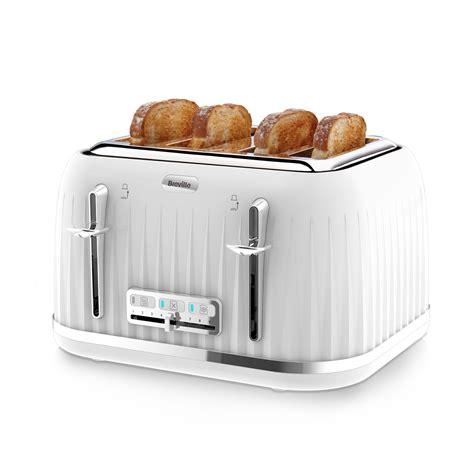 under 4 slice toaster white impressions 4 slice toaster vtt470 breville
