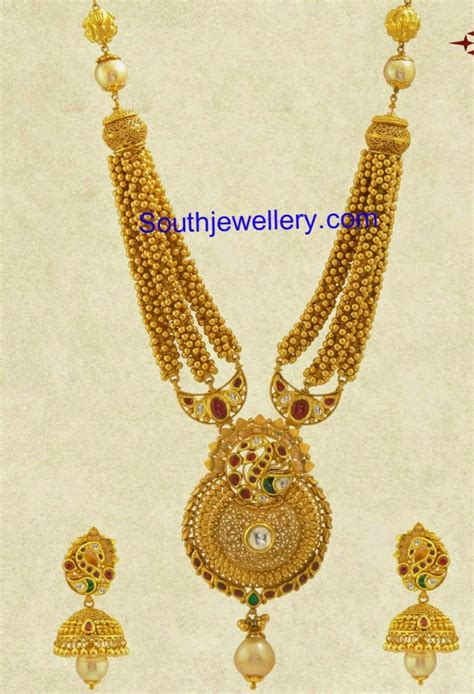 tiny gold balls necklace jewellery designs