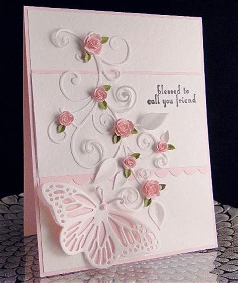 Handmade Cards With Butterflies - pink roses butterflies and handmade cards on