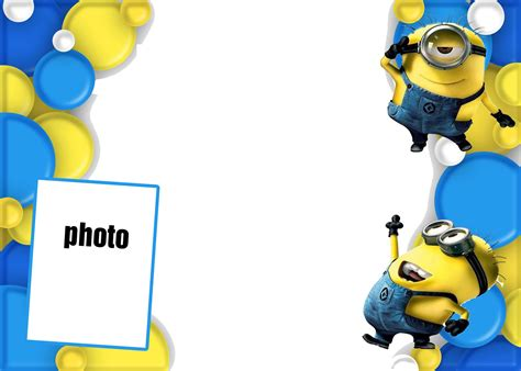 minion birthday card template minion invitations template design cakraest invitation