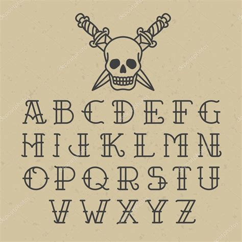 the gallery for gt tattoo font alphabet letters