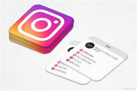 Should I Add Mba To My Business Card by Mini Instgram Cards 2016 Business Cards Social Media