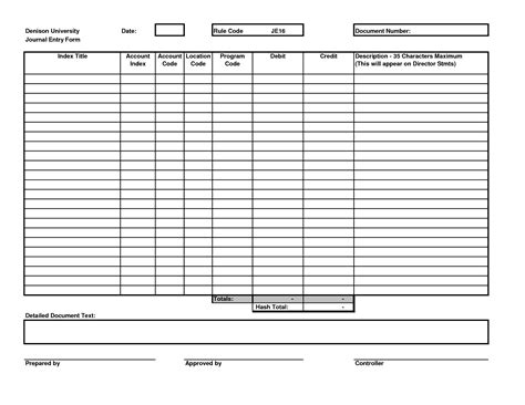 journal entry form template 9 best images of printable journal entry form sle
