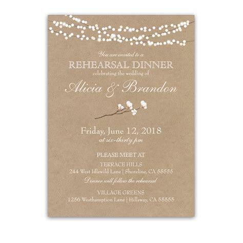 wedding rehearsal invitations rustic cotton kraft paper rehearsal dinner invitation