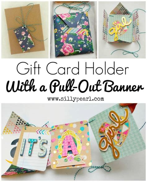 how to make a gift card holder out of paper gift card holder with pull out banner yesterday on tuesday