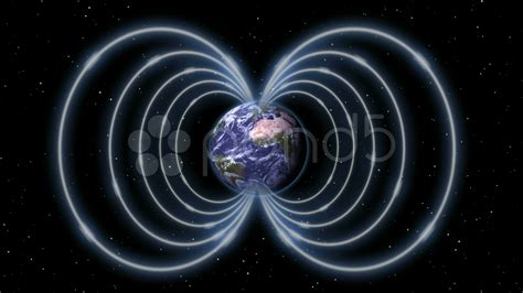 Solar Christmas Lights Magnetic Field As Shield Around The Earth In Space Stock