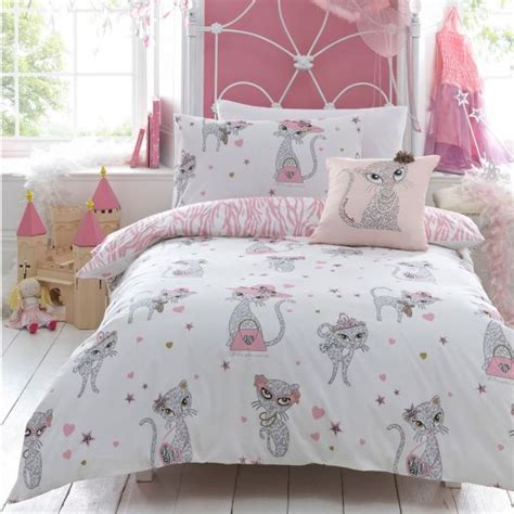 cute teen comforters girls bedding with a hint of pink and a cute motif sports