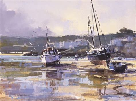 boat auctions cornwall scene of st ives in cornwall by ray balkwill peintures